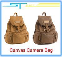 Free shipping fashion Vintage Canvas Camera Bag DSLR SLR Backpack Travel Rucksack VS dji DJI Phantom 2 Vision Aluminum C boy toy