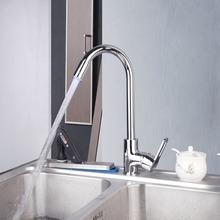 8056-1 Construction & Real Estate Chrome Finished LED Kitchen Single Handle Sink Faucet Vessel Mixer Faucet