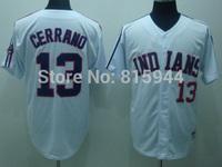 Cleveland Indians #13 Pedro Cerrano white adult baseball jerseys mix order free shipping