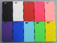 1pcs For Sony Z1 Compact Cover,New Rubber Hard Back Cover Case For Sony Xperia z1Compact +Screen Protector Film