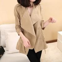 2014 Autumn Brand Imitation Suede Fashion Street Women Solid Short Windbreaker V-neck Jackets Batwing Sleeves Free Shipping