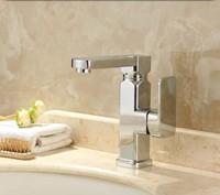 Free Shipping Taps Bathroom Chrome Swivel Brass Mixer Tap Water Tap Bathroom Basin Faucet torneira de banheiro