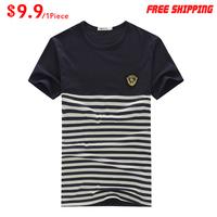 Wholesale 2014 Brand Men's T-Shirts, Round neck T-shirts, Fashion O-neck T-Shirt,Free China Post Shipping T012