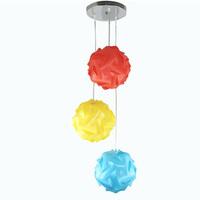 DIY Modern Pendant Ball novel red yellow sky-blue color DIY IQ pendant lights,size 25cm/30cm/40cm YSLIQRYS free shipping