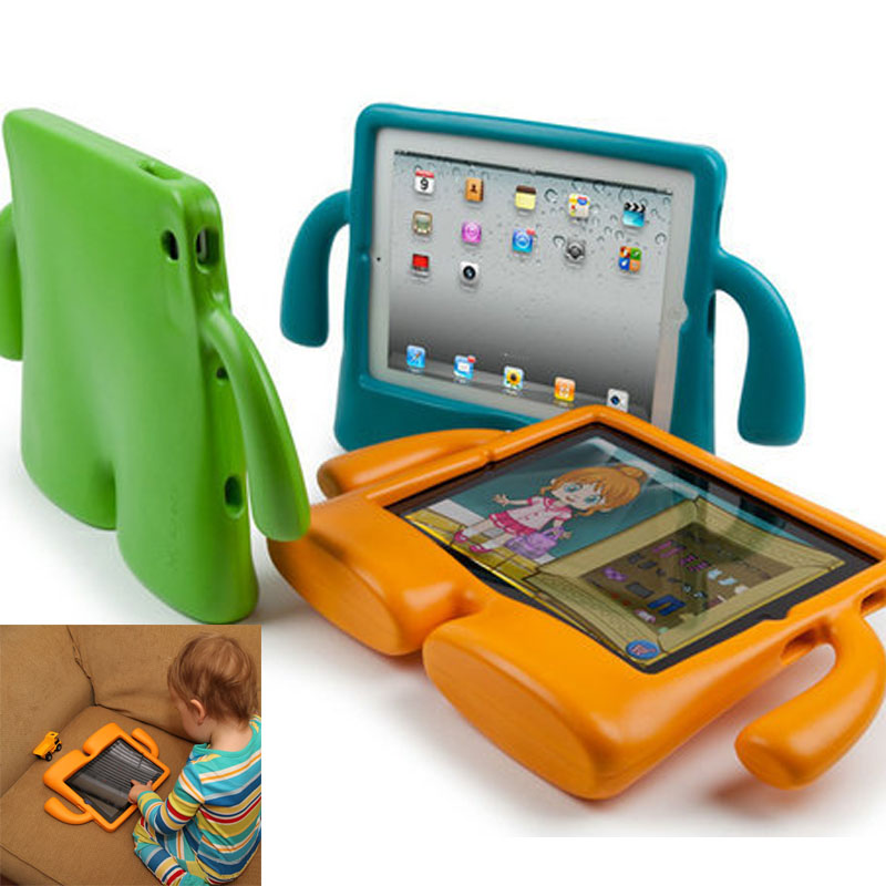 New Lovely 3D Cute Cartoon Kids Children Soft Thick Foam Cover Case Standing for iPad Mini Laptop & Tablet Accessories(China (Mainland))