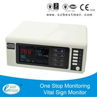 CE baby vital sign monitor built-in battery,printer with LCD screen