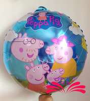 New 20 pcs/ lots wholesale peppa pig foil balloons party decorations balloons birthday cartoon hot sale free shipping Brazil