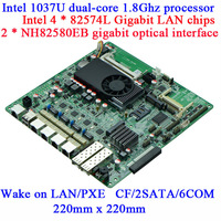 1037U routing server motherboard NM70S_O 4*82574L Gigabit Ethernet ports dual optical Gigabit 82580 2SET BYPASS 6COM firewall MB