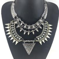 Brand punk rivet necklace statement necklace for women alloy vintage necklaces & pendants fashion jewelry wholesale
