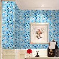 [Mius Art Mosaic] Blue glass tile mixed shell mosaic kitchen mosaic A4D68
