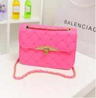 New summer peach heart diamond chain handbags candy small fresh wave of Korean Cosmetic bags girls