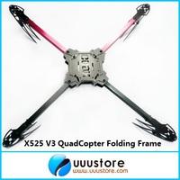 X525 V3 QuadCopter Folding Frame Friber Glass MultiCoptor Red/Balck kit for KK MK KK Flight Board