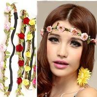 Free shipping Flower Hair Accessories Bohemia Beach Flower Hair Bands Headband Hair Accessory 9 Colors Drop Shipping Headwear