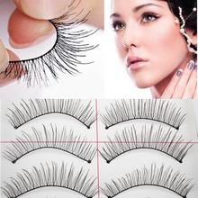 Natural 10 Pairs False Eyelashes Long Thin Fake False Eyelashes Eye Lash Makeup Tool  BHU2