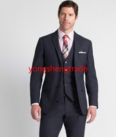 2014 Gentleman Business Suit Charcoal Wool Three Piece Suit Perfect For Everyday Wear And For Any Occasion Customize Suit MS0374
