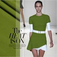 Heavy silk cotton rib fabric big brand 60%silk blended cloth 34momme green for dress DIY
