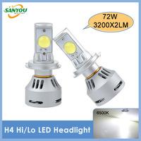 2014 New 1 Set 72W 3200X2LM H4 Hi/Lo CREE XLamp MTG2 LED Car Headlight Kit Lamp White DC12/24V