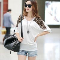 OVO!2014 brand new  Fashion women clothing ladies blouses & Shirts leopard grain spliced five colors plus size S-XXXL F.SZ.W160
