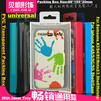 80pcs!CellPhone Case Shell Holster Packing Retail Box+inner tray / Packaging Display for iphone4/5 for Samsung S3/S4/S5 Note2/3