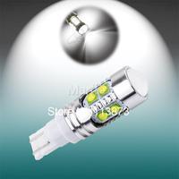 2pcs Free shipping T10 cree LED 50W NEW cree led,194/501 W5W led high power,168 car light,cree led car t10 car light source