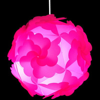 2014 New Modern Dia30cm Rose Red IQ puzzle lamps light pendant lights YSLIQSR10 free shipping
