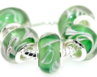 Set of 5 pieces 925 Silver Core Murano Glass Beads Fit European Charm Bracelet Free Ship IL078 hgfd bviul vg gbvfpt