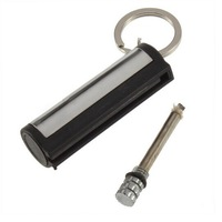 1pcs Fashion Permanent Match Striker rectangular Lighters With Key Chain Silver Worldwide FreeShipping