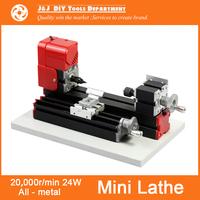 All Metal Mini Lathe Machine with 20,000r/min, 24W Motor ,DIY Tools as Chrildren's Gift.