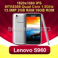 Lenovo S960 MTK6589 Android Quad Core 1.5GHZ 2G RAM 16G ROM With 5.0Inch IPS Gorilla glass 3G GPS 13mp Smart Phone 5PCS/LOT