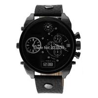 Atmospheric clock fashion luxury brand sports watch, DZ7193 men's military quartz watch, LIFE waterproof leather  watch Relogio