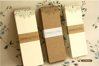 300G Kraft Vintage Style DIY Multifunction Blank Cards Message Card Printing  Paper Set Mini Greeting Card/Gift Card 15cmx4cm