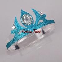 Wholesale 2015 Elsa Crown Custom Made Movie Cosplay Girl Frozen Princess Headwear for Children HA40610-01
