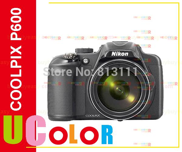 Original New Nikon COOLPIX P600 16.1MP 60X Zoom Digital Camera - BLACK(Hong Kong)