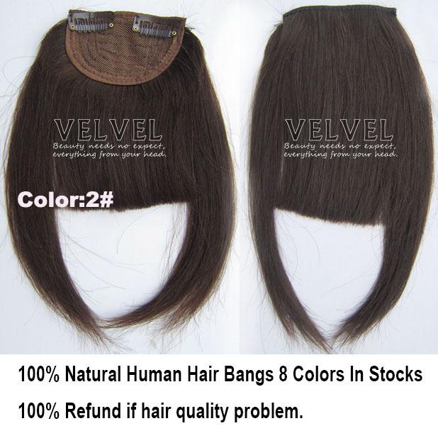 8 цветов + бесплатная доставка 100% человеческих челка челка натуральные волосы взрыва мода Franja реми волосы штук прическа черный блондинка