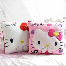 High Quality Lovely Hello Kitty Pillow Soft Hand Warmer Warm Stuffed Plush Hello Kitty Cushion 2 color plush toys(China (Mainland))
