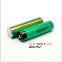2PCS 100% New Original NCR18650A NCR18650 18650 3100mah 3.7v Protected Battery with PCB for Panasonic + Free shipping