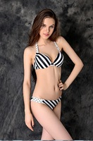 New explosion models sexy bikini women ride the classic black and white striped swimsuit free shipping DST-352