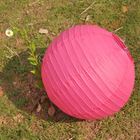 Free shipping Wholesale 12 inch ROSE RED paper lanterns round Chinese paper lantern for wedding party decorations