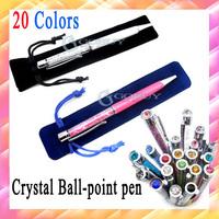 20pcs/lot diamond Crystal ballpoint Pen Kawaii Touch Screen Ball pen for Ipad Iphone Samsung,Retail & Wholesale