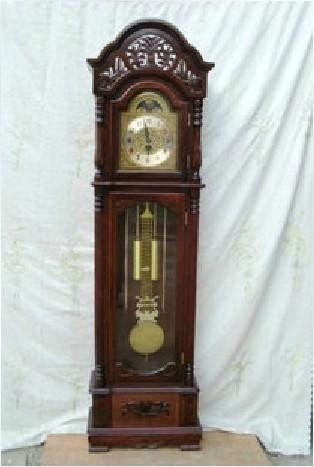 When Lee Heng Wood IKEA Living Room European Style Grandfather Clock Chime Me