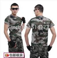 Free shipping 2014 hot sale camouflage t-shirt slim short-sleeve o-neck t shirt amy T-shirt men's t shirt
