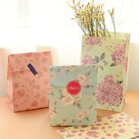 Korea stationery fiower paper storage small handbag gift bag paper  packaging bag 3pcs/sets free shipping