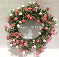 45CM high quality export artificial rose flower wreath silk flower garland home indoor outdoor decorations