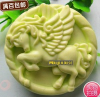DIY Handmade Soap Silicone Mold Roundness Angel Horse Molds Resin Candle Mould Chocolate Candy Molds Form of Cake