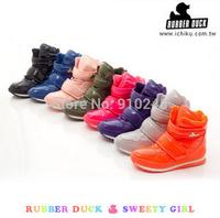 Hot sale ! fashion women's rubber duck snow boots winter Warm sport waterproof  jogging Combat boots 9  color plus size 35-40