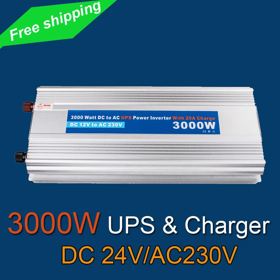 Power Solar 3000W DC24 AC 230V Inverter UPS Charging VOLTAGE DISPLAY USP 230V(China (Mainland))