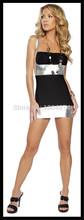 wholesale silver lycra dress
