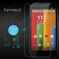 10PCS   , 2.5 D 0.3MM  Premium Tempered Glass guard Film Screen Protector For Motorola Moto G Phone