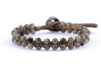 Top Quality Faceted Labradorite Braided Bracelet  Beaded Wrap Bracelet Friendship Bracelet Manufacturer wholesaler