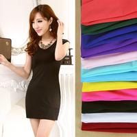 2014 New women's One-piece dress fashion tank dress slim hip dress plus size sleeveless S-XXXL